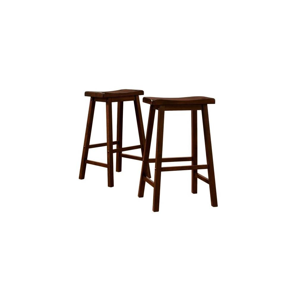 Scoop 29 Barstools Walnut Set Of 2 Brown Bar Stools Wooden Bar Stools Counter Height Stools