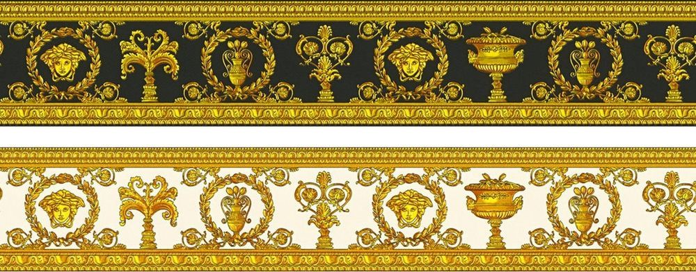 Details About Versace Wallpaper Borders Medusa Head Luxury