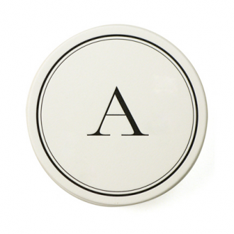 hostess gift monogram coasters from sugar paper 24