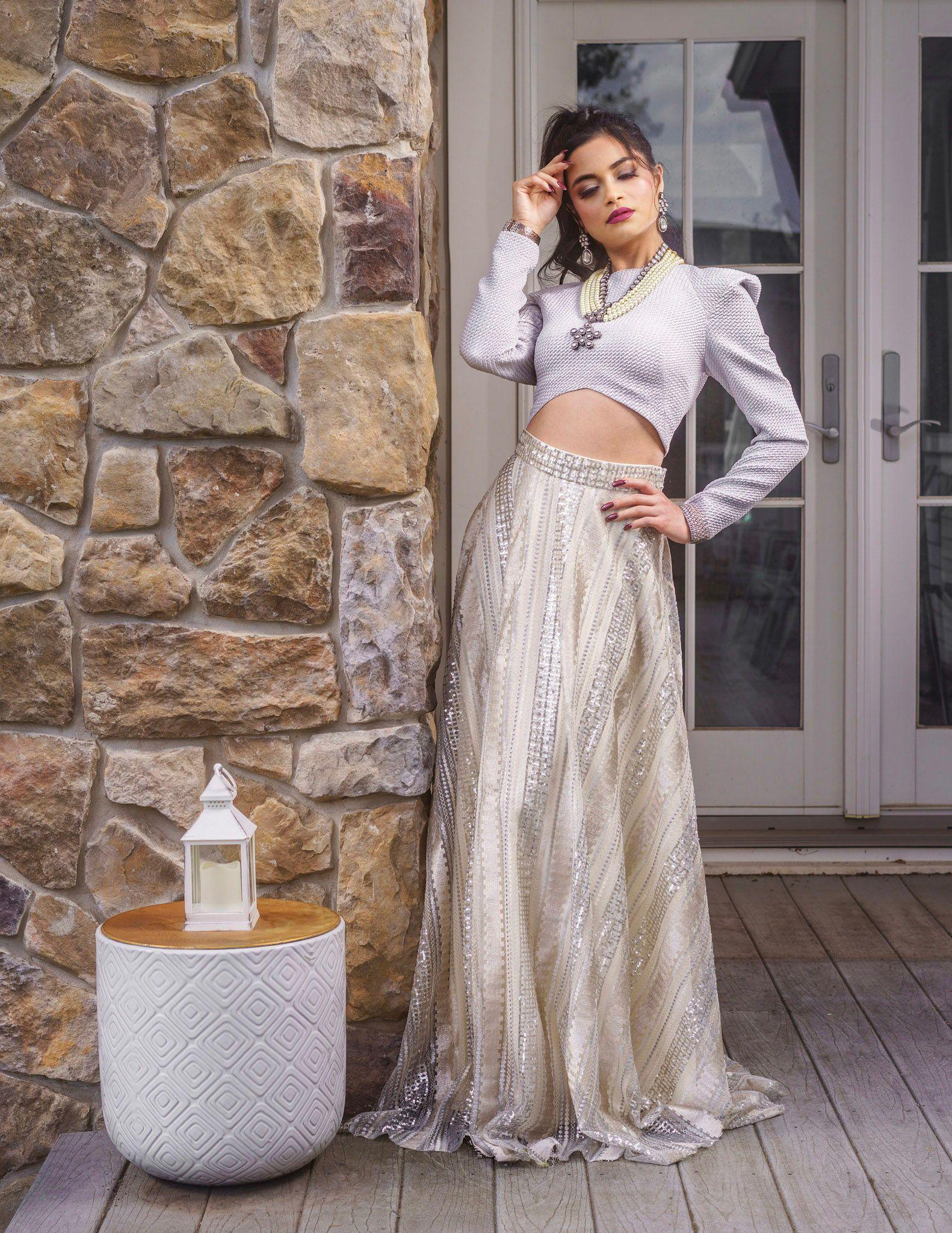 Winter White Lehenga Outfit