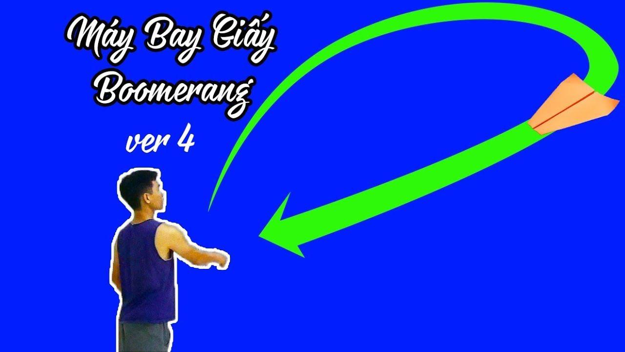 Cách Gấp Máy Bay Boomerang Ver 4, Origami Boomerang plane