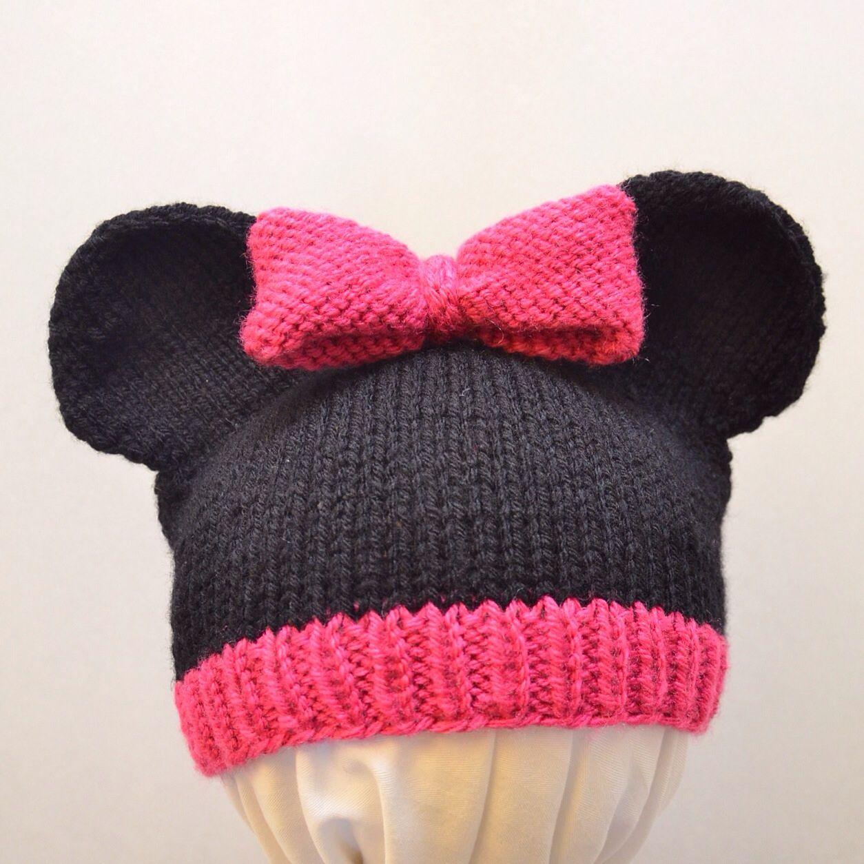 f107632e24b249 Mickey and Minnie Mouse Knit Hat pattern by Cynthia Diosdado   Craft ...