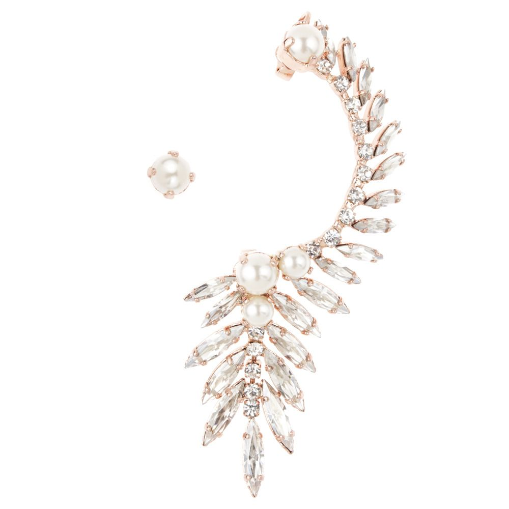 Rose Gold plated and Pearl Swarovski ear cuff PRE ORDER ONLY: All orders will be dispatched Monday 15th July