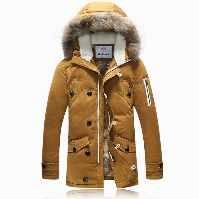 Winter Brand Men Down Jacket Fur Hood With Cashmere Plus Size XXXL ...