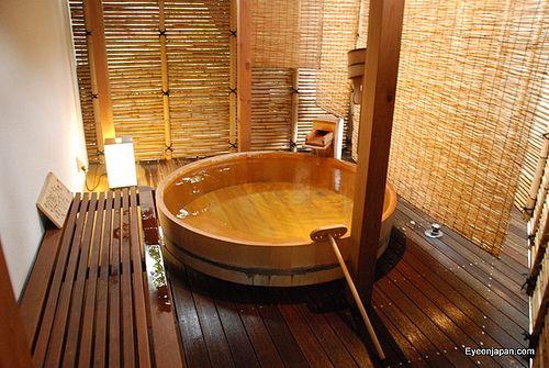Private wood onsen at kikuya ryokan ryokan in 2019 - Ryokan tokyo with private bathroom ...