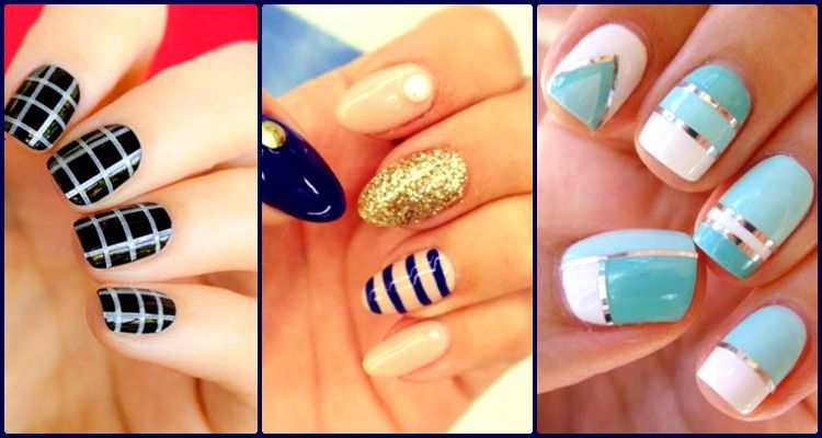 You can stand out every time with striped nail art designs as it gives a defined, clear and salon created look. So pick your design, strip and paint!