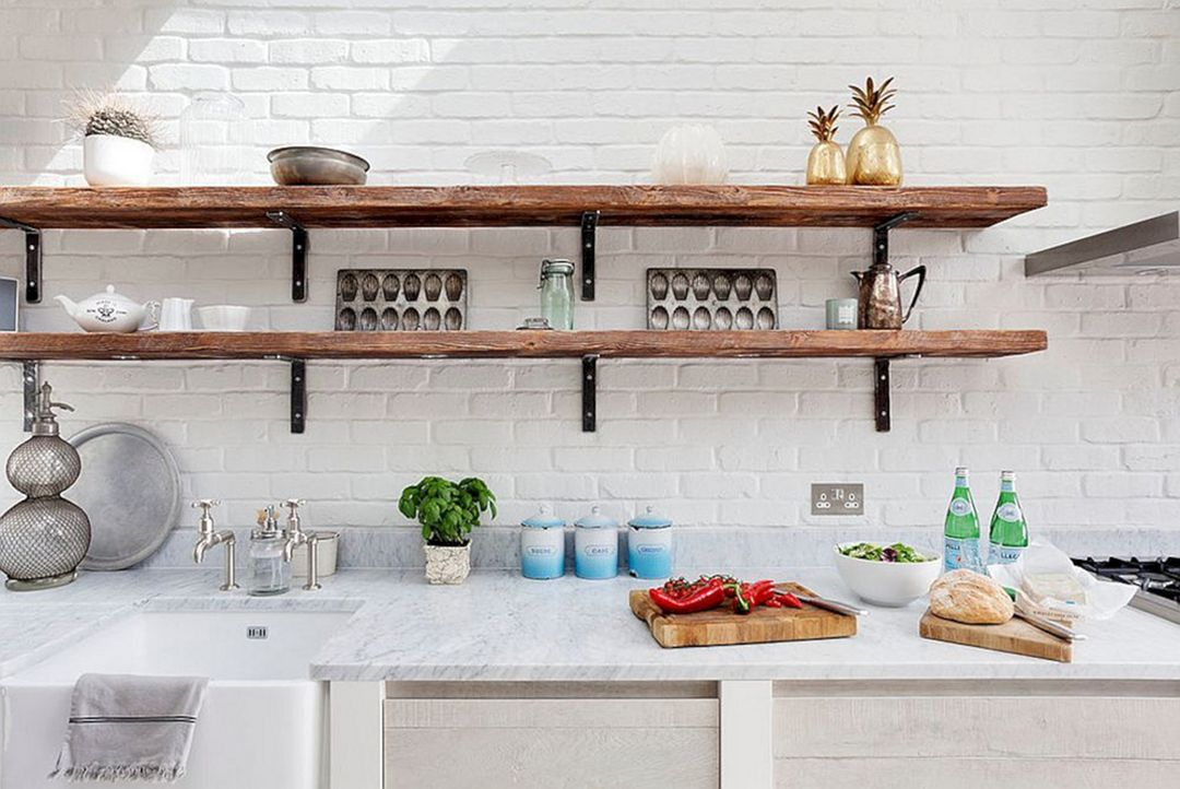 30 Incredible Kitchen Wall Shelves Design You Have To See Wooden Shelves Kitchen Kitchen Shelf Design Country Kitchen Shelves