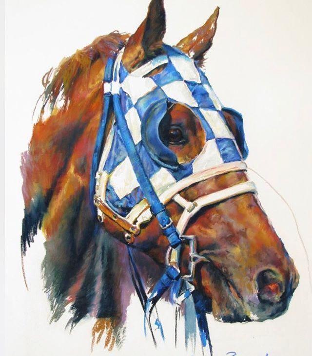 #racehorse #equineart #manelineart #deckthewalls #interiors #horsesinart #originalart #commissionedart