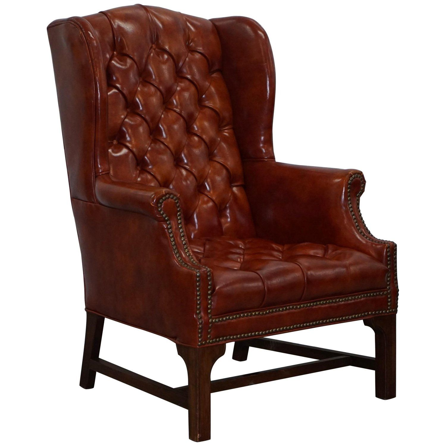 Lovely Vintage Fully Buttoned Chesterfield Wingback ...