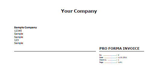 Proforma Invoice Layout In EConomic  Doin Biz