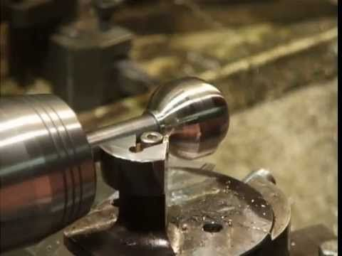 how to turn a sphere on a metal lathe