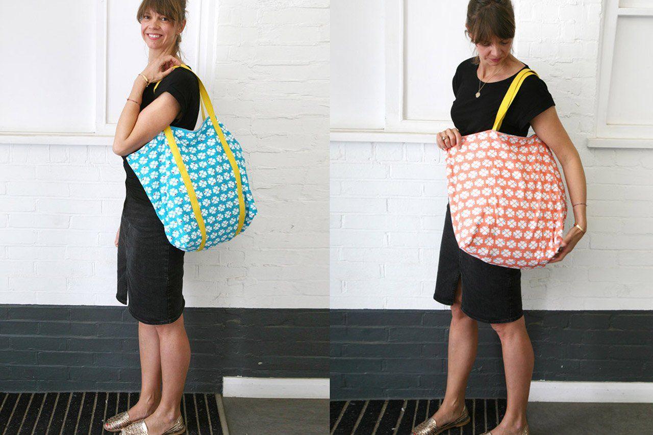 Strandtasche zum Wenden nähen: ganz einfach! #håndarbejde