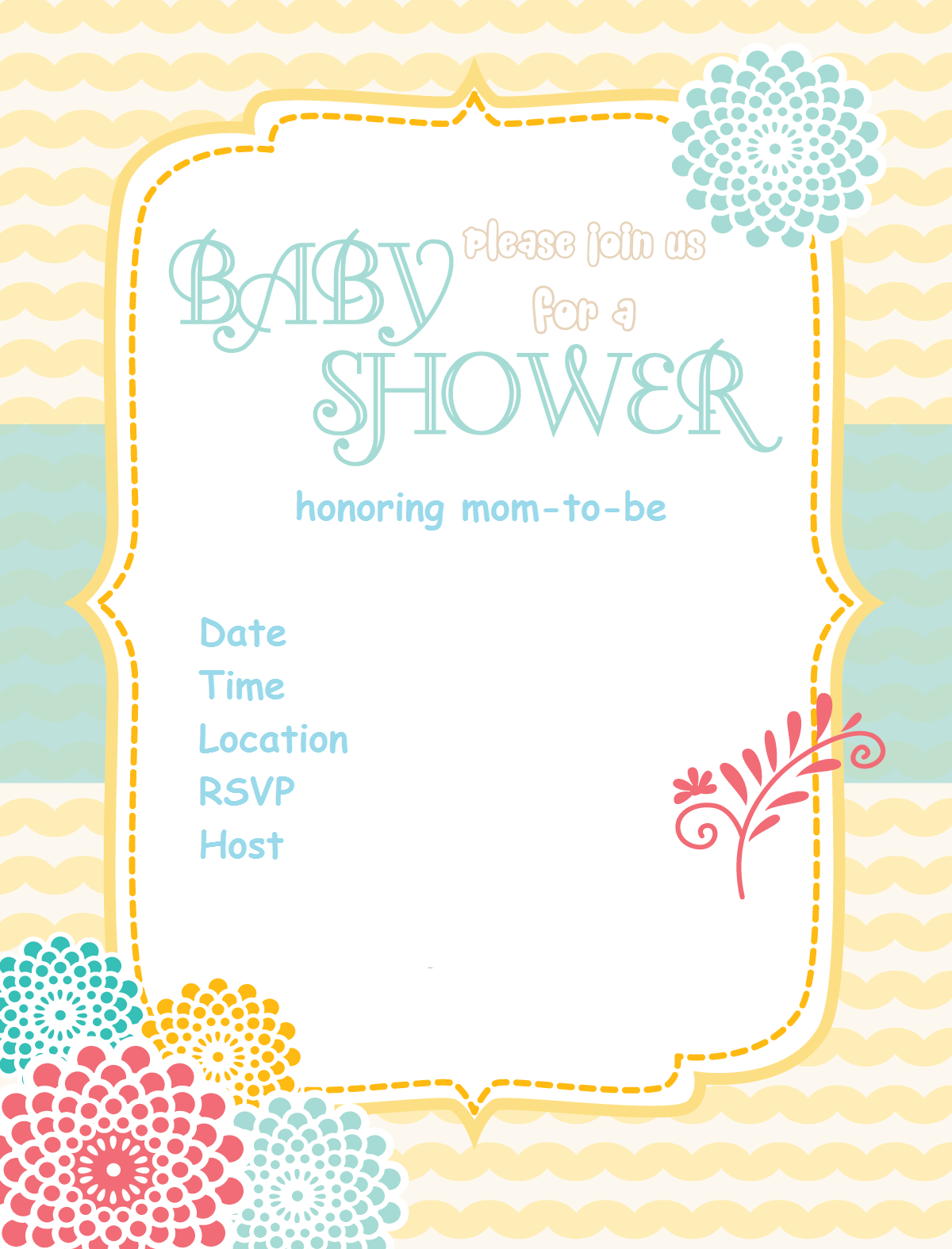 Free-baby-shower-Invitation-sunshine-flower via www ...