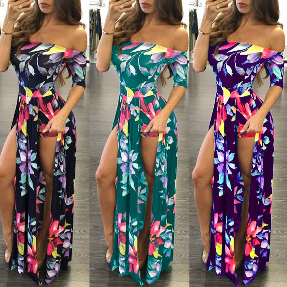 Fashion Womens Summer Beach Playsuit Bodycon Partysuit Romper Trousers Club