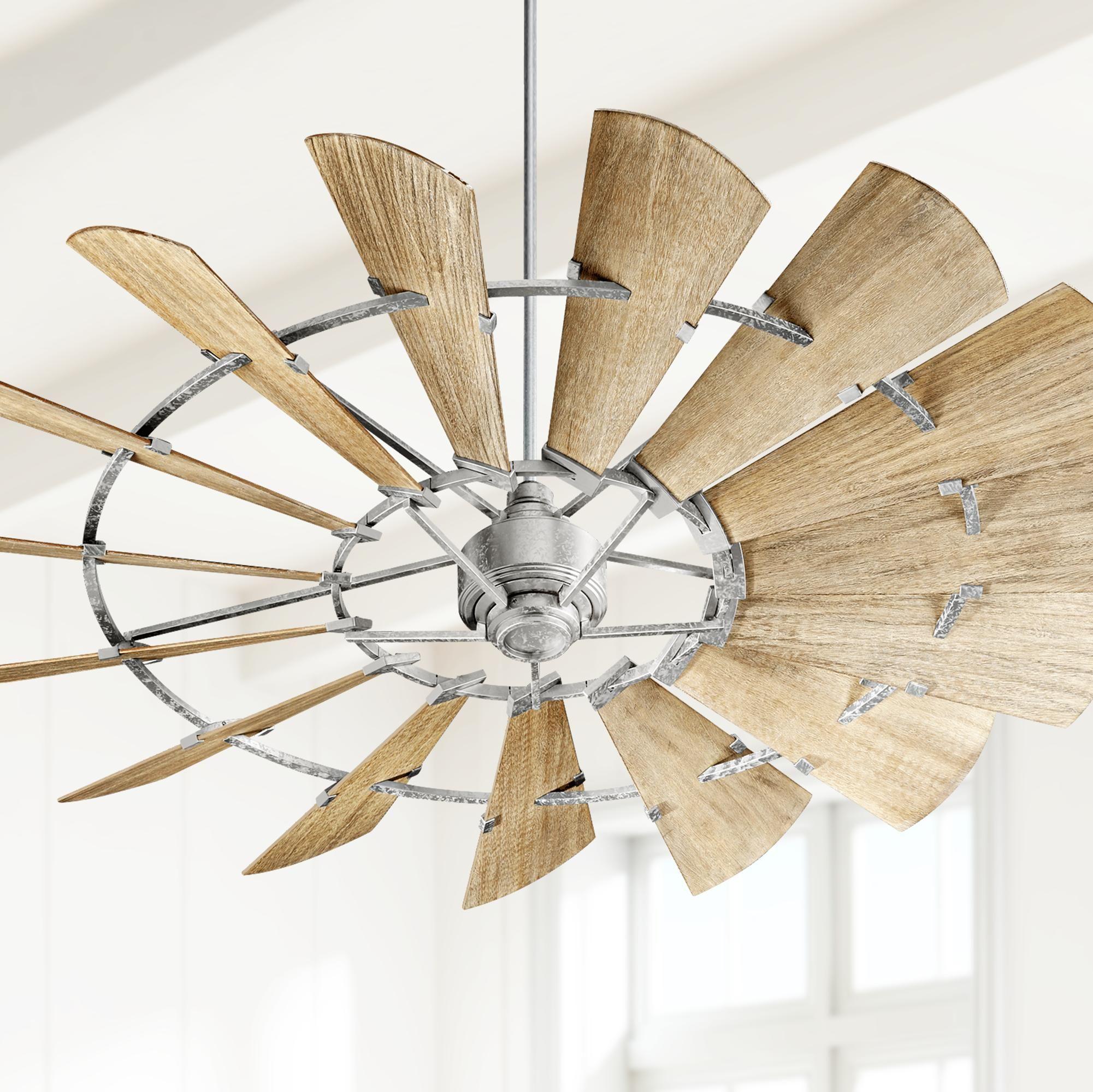 72 inch quorum windmill galvanized ceiling fan in 2020