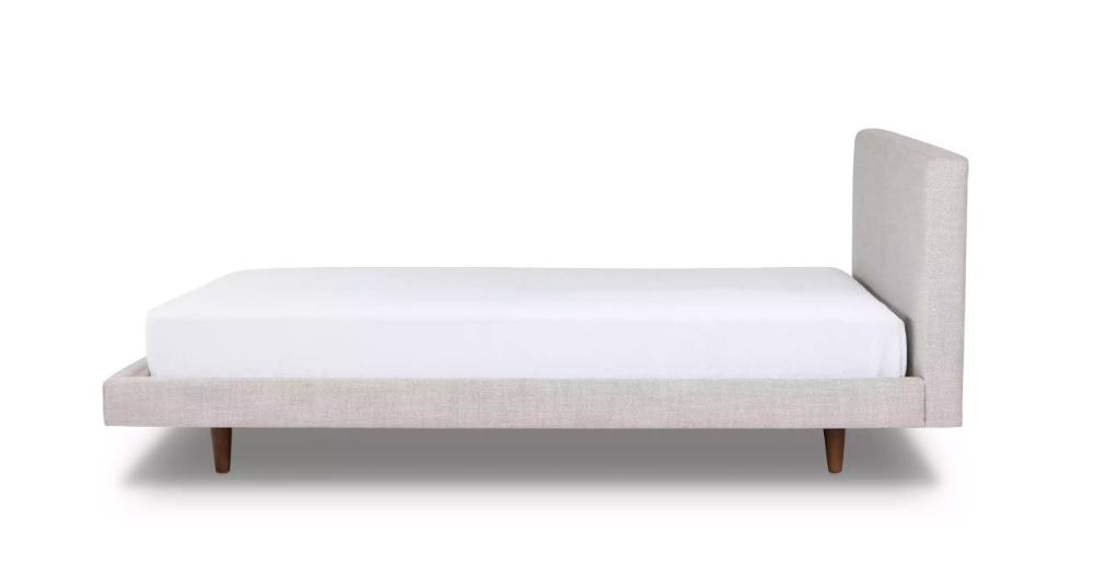 Tessu Glaze Gray King Bed Upholstered beds, King beds