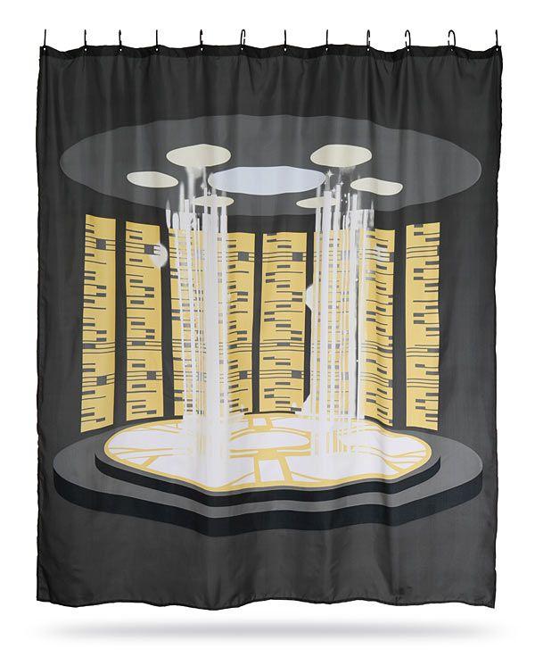 Star Trek Tng Transporter Shower Curtain Star Trek