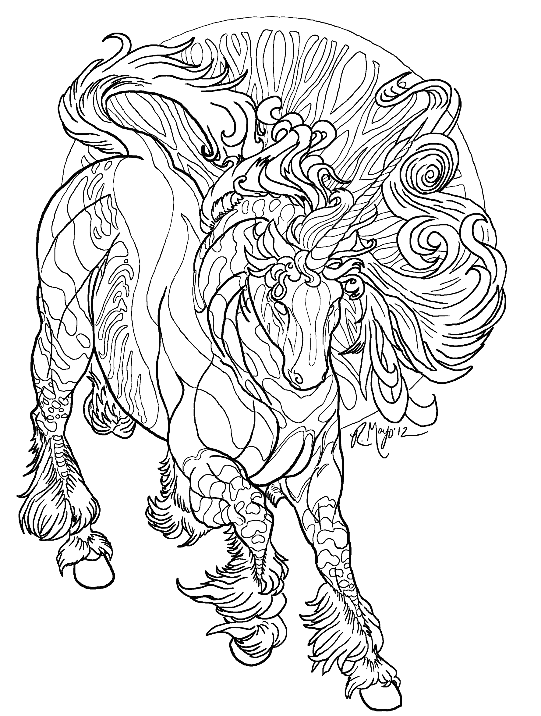 by the light of stars lineart by rachaelm5deviantartcom on deviantart - Line Art Coloring Pages