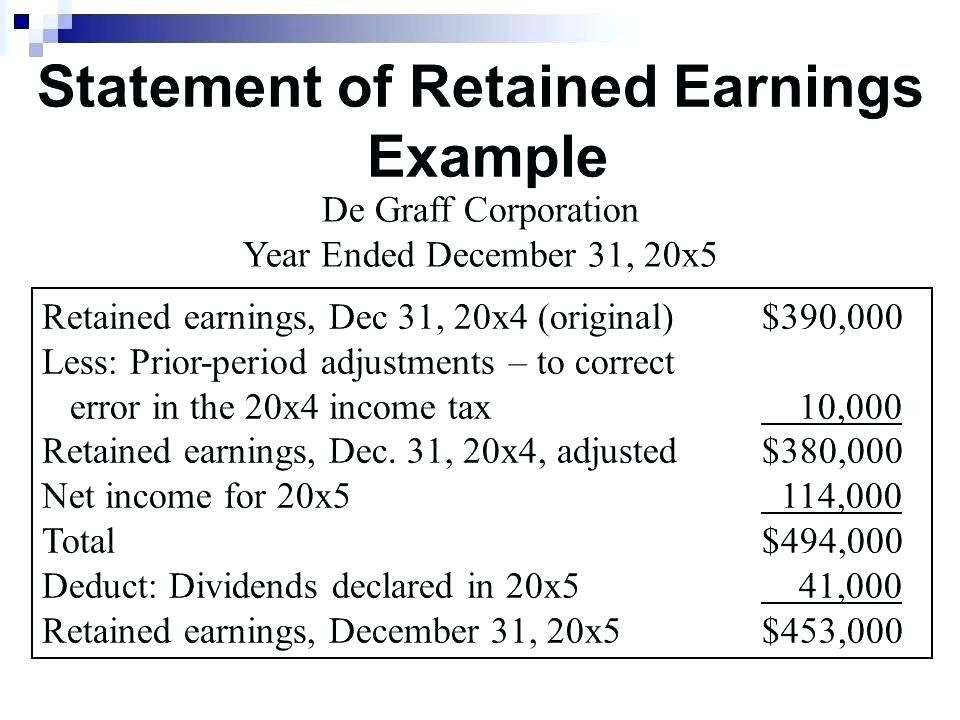 28 Retained Earning Statement Template In 2020 Statement