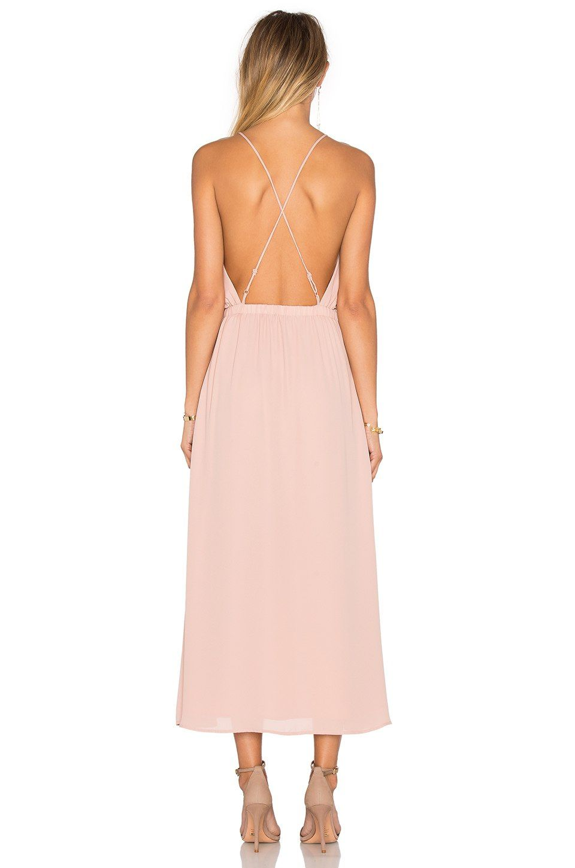 Lace dress styles for funeral  krisa X Back Midi Dress em Cosmético  REVOLVE  vestidos