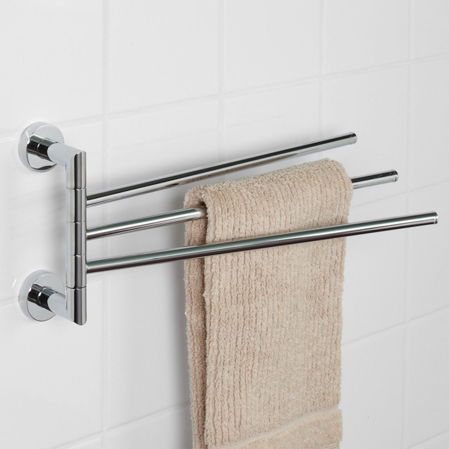 Bristow Triple Swing Arm Towel Bar Towel Holders Bathroom