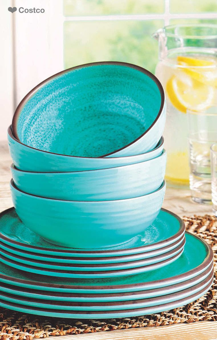 Spice up your dining space with this beautiful 12pc Melamine ...