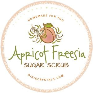 How cute is this free, downloadable Apricot Freesia Sugar Scrub Label? After you make our recipe for sugar scrub you can attach this label to a jar and give it as a gift to someone you love this holiday season.