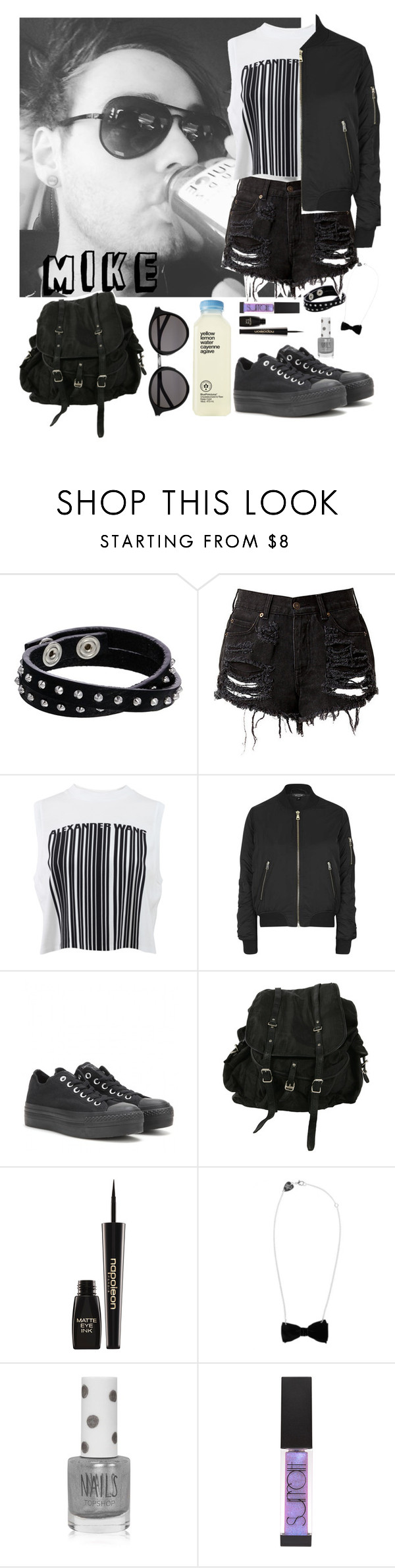 """Mike's day"" by romii5sos ❤ liked on Polyvore featuring Diesel, Alexander Wang, Topshop, Converse, AllSaints, Napoleon Perdis, Tatty Devine, Surratt and Yves Saint Laurent"