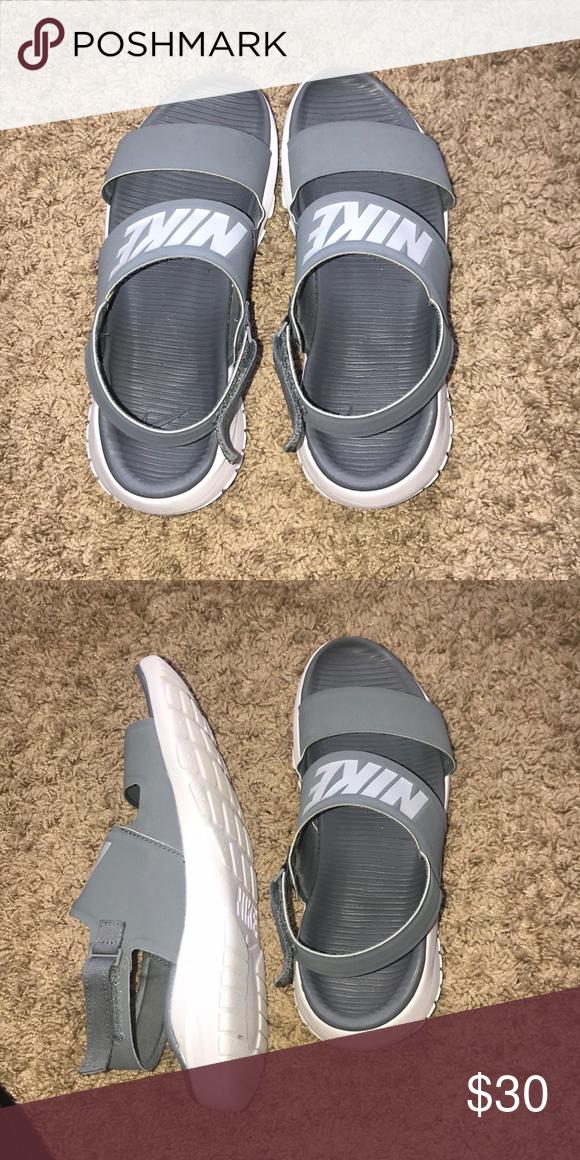 Nike Sandals Grey Nike sandals that