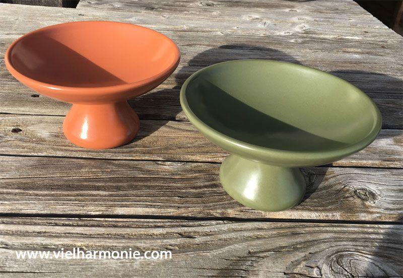 Die TAO Räucherschale in orange, grün oder auch cremeweiß