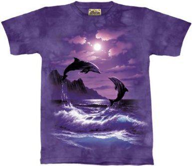 Moon Dolphins Tshirt L or XL M S