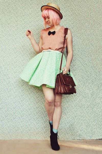 Black-rubi-shoes-boots-lime-green-diy-dress-beige-straw-boater-wholesale-hat_400