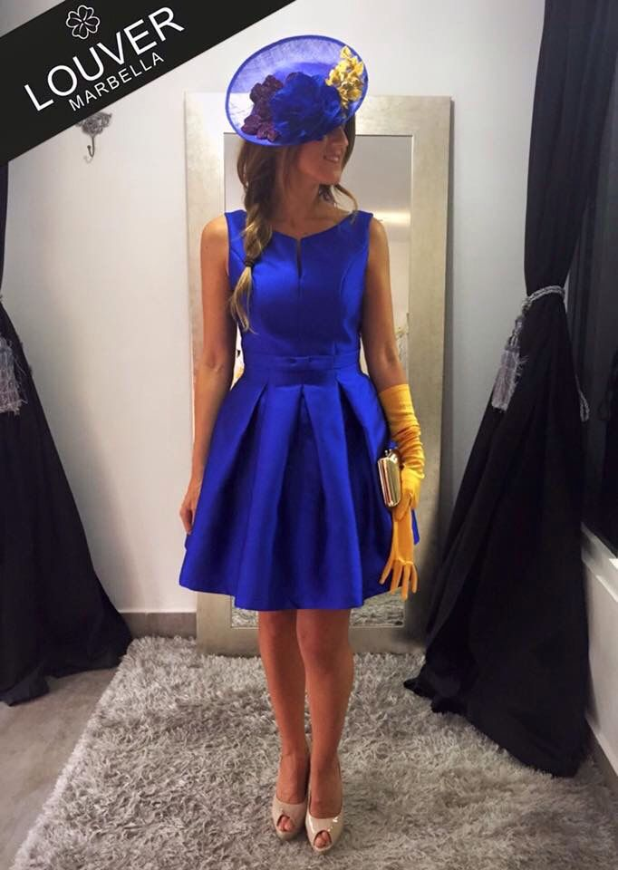 Tocados para vestido azul electrico