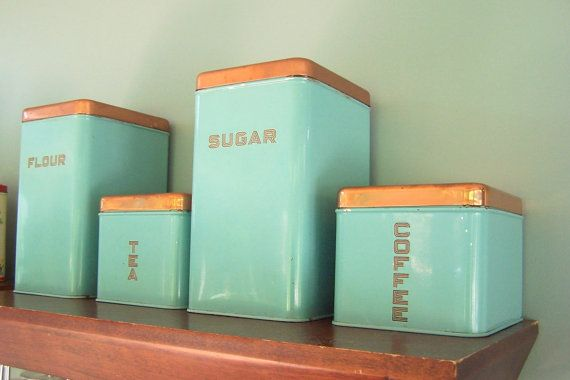 Mid Century Lincoln Beautyware Canister Set By LizzieTishVintage