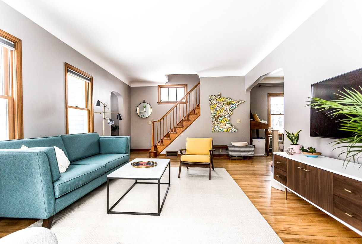 Best Grey Living Room Ideas With A Mid Century Modern Style 400 x 300