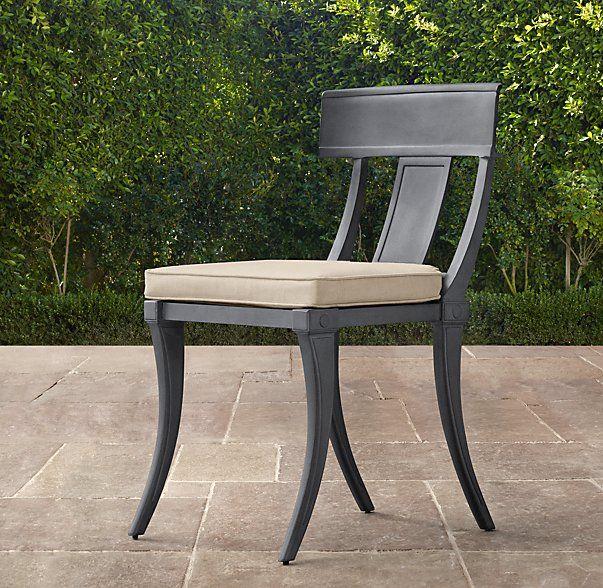 Klismos Classic Side Chair Cushion Jbh Patio
