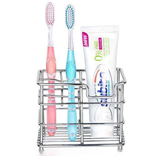 New Stainless Steel Bathroom Toothbrush Toothpaste Dispense Holder Razor Stand