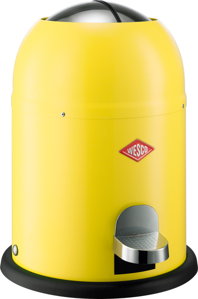 Bathroom Trash Can 9lts Single Master Yellow