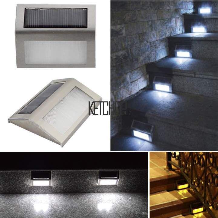 Extérieur+énergie+solaire+lumière+LED+Clôture+De+Jardin+Mur+Voie+