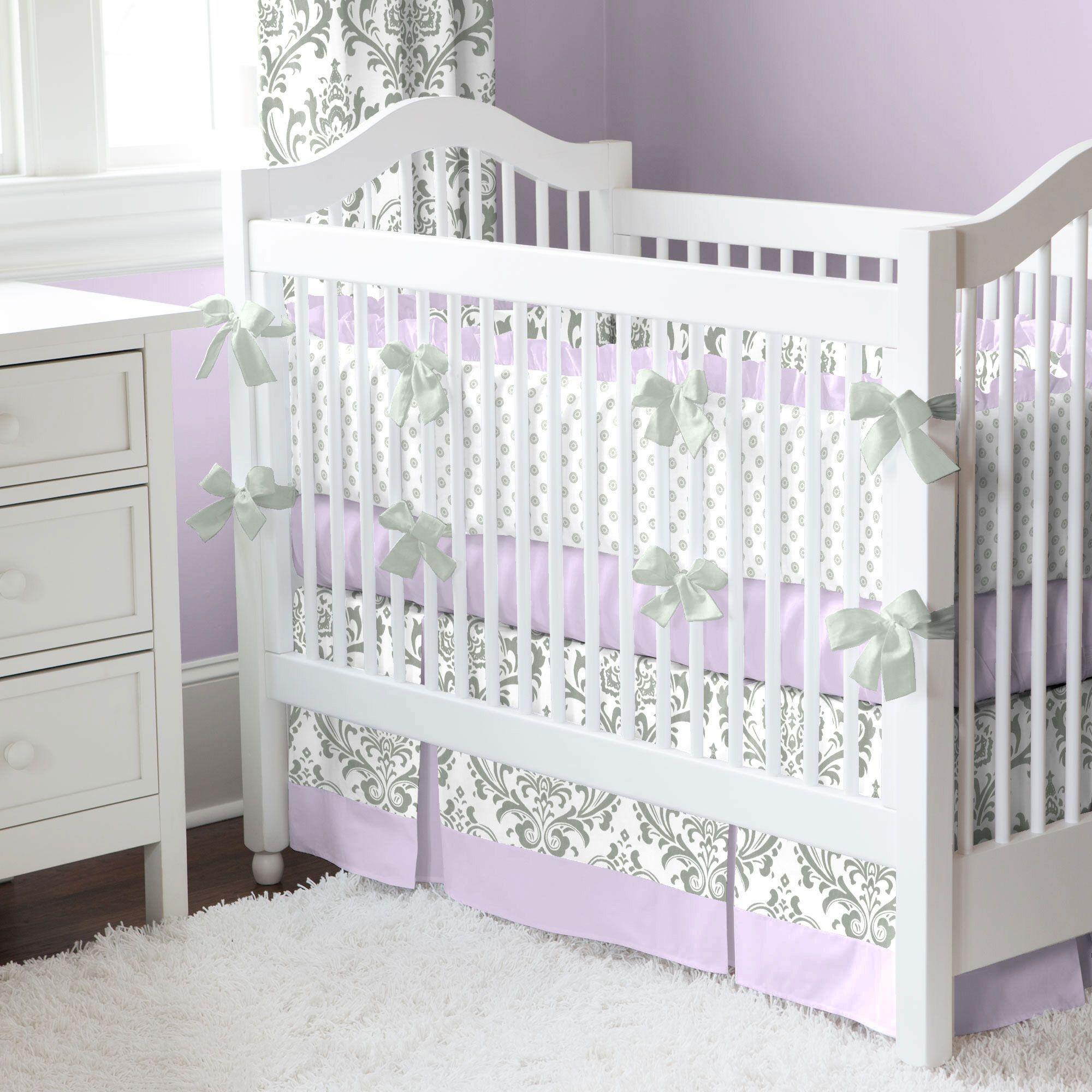 Gray Arrow Crib Rail Guard Bedding Set Be Brave In Gray Crib