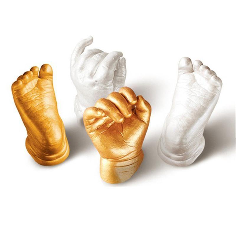 Mold Mini Kit 3D Gift Plaster Hand/&Foot Casting Baby Souvenir Clone Powder