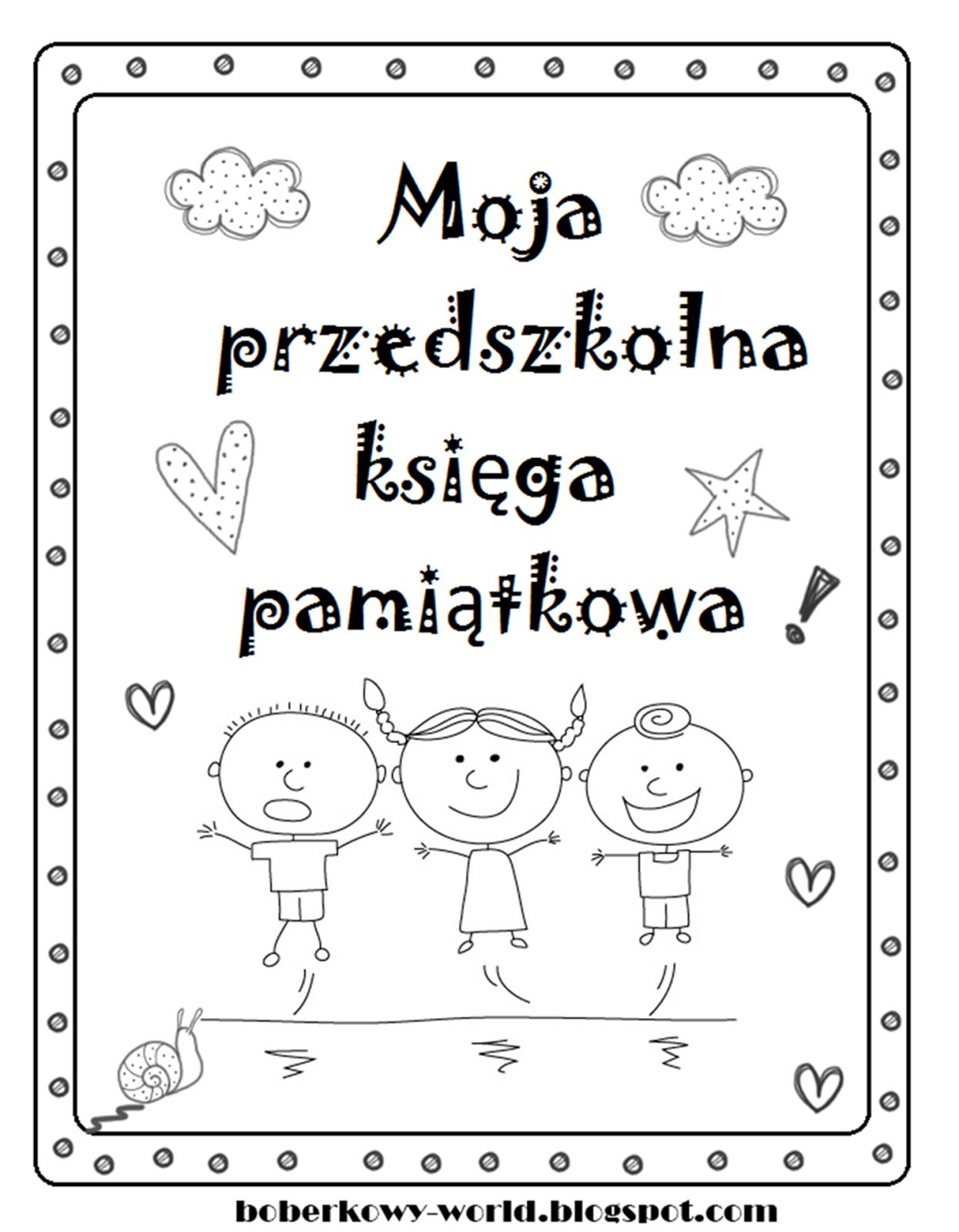 Boberkowy World Przedszkolna Ksi Ga Pami Tkowa Prezent