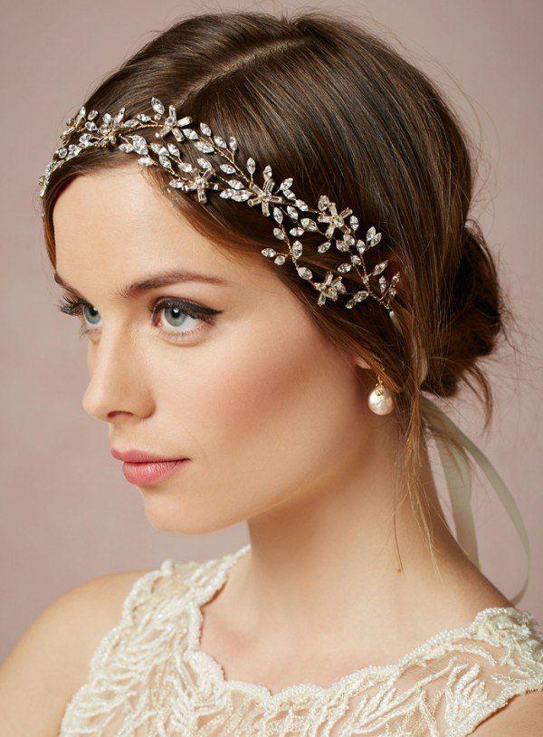 Braut haarschmuck  Braut Haarschmuck Augen betonen natürlich schminken … | Pinteres…