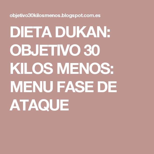Adelgazar 30 kilos dieta dukan