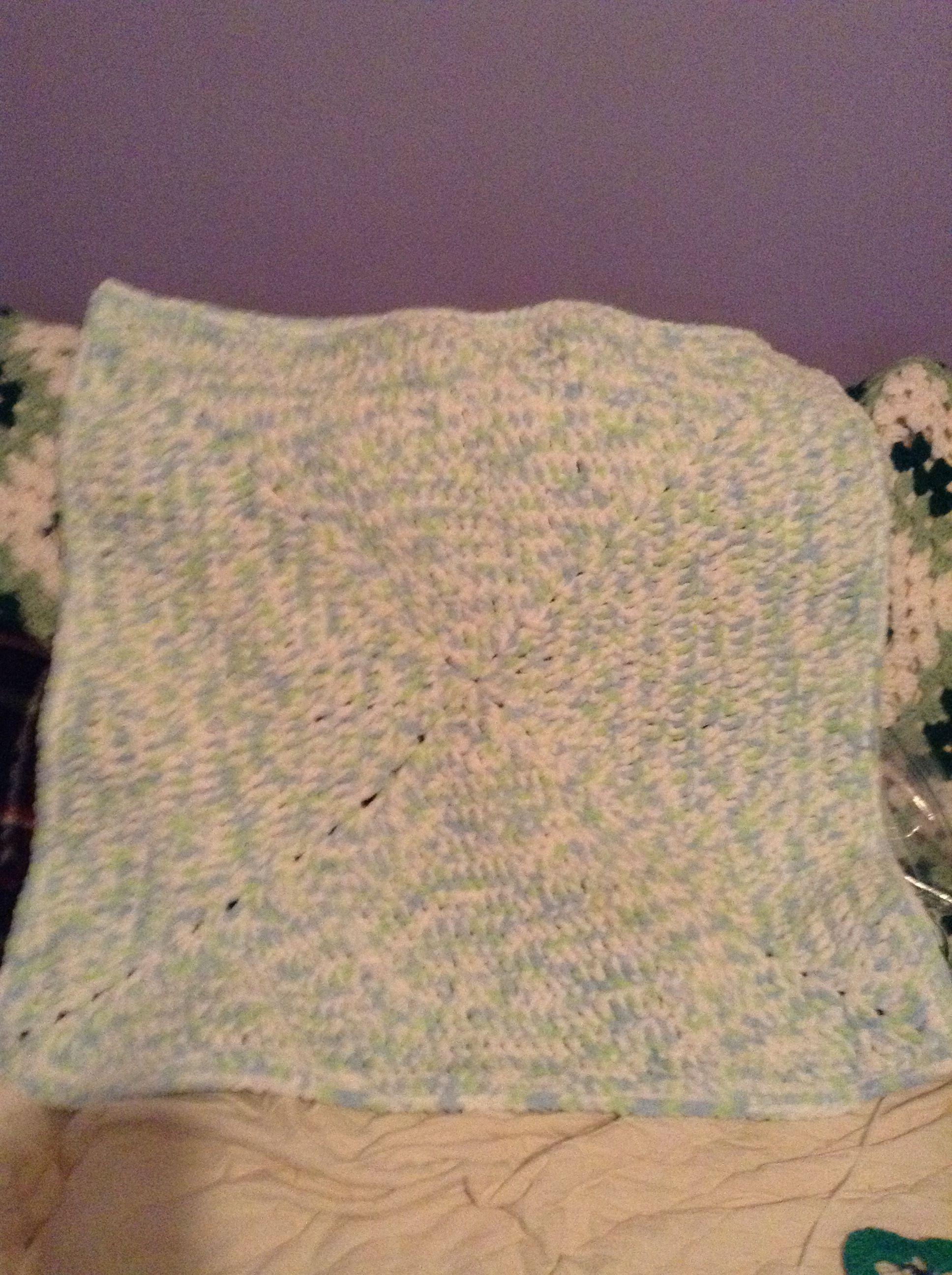 crocheted blanket for my grandson