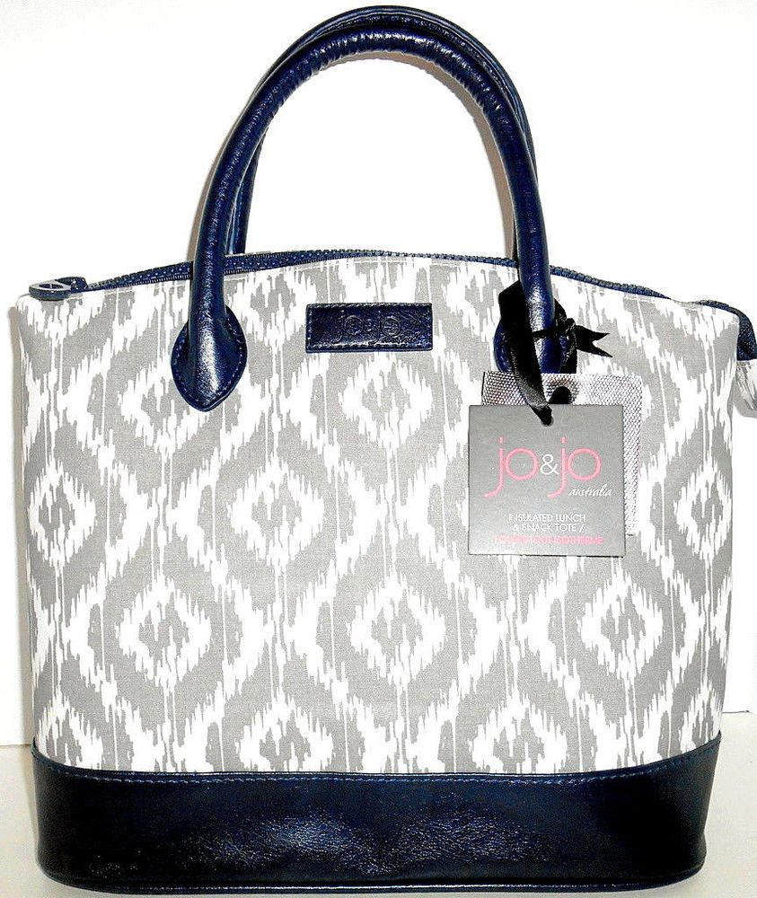 f3687714b5a8 JO & JO Australia Womens Insulated LUNCH & SNACK BAG NEW Gray ...