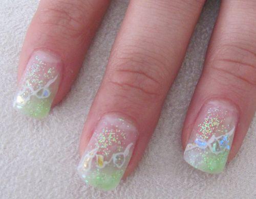 Tinkerbell Inspired Nails Nails Salon Pinterest Nail