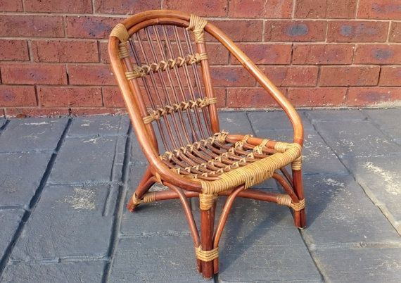 Excellent Vintage Bamboo And Wicker Childs Chair Bamboo Lawn Garden Gmtry Best Dining Table And Chair Ideas Images Gmtryco