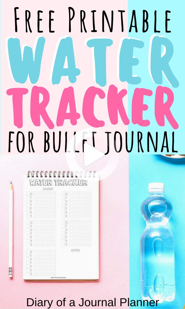 Free Printable Water Tracker Bullet Journal Page #watertrackerbulletjo