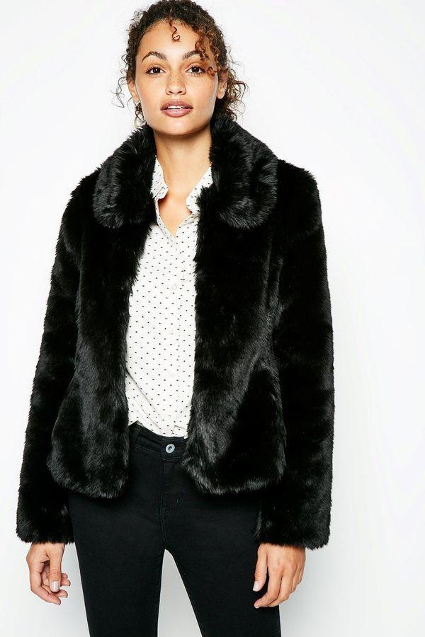 22bb8c26f64 Jack Wills Bearwood Faux Fur Jacket | Women's Outerwear | Black faux ...
